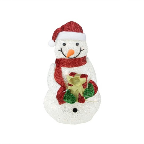 Northlight 23 White And Red Lights Snowman Outdoor Christmas Decor Target