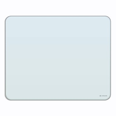 """U Brands 20""""x16"""" Frameless Magnetic Glass Dry Erase Board White Frosted Surface"""