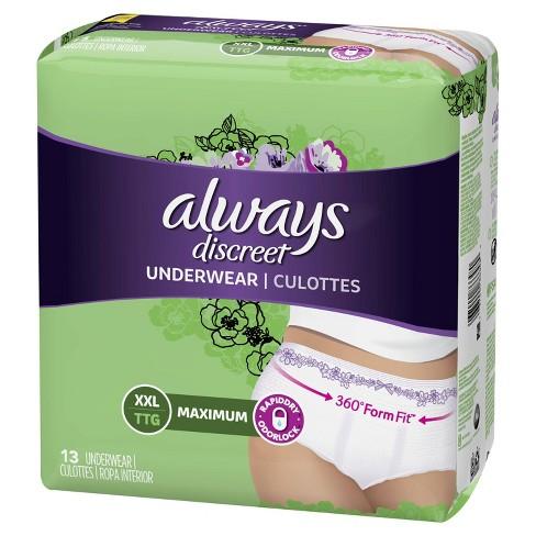 Always Discreet Incontinence & Postpartum Underwear for Women - Maximum - XXL - 13ct - image 1 of 4