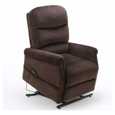 Halea Upholstered Lift Chair - Chocolate - Christopher Knight Home