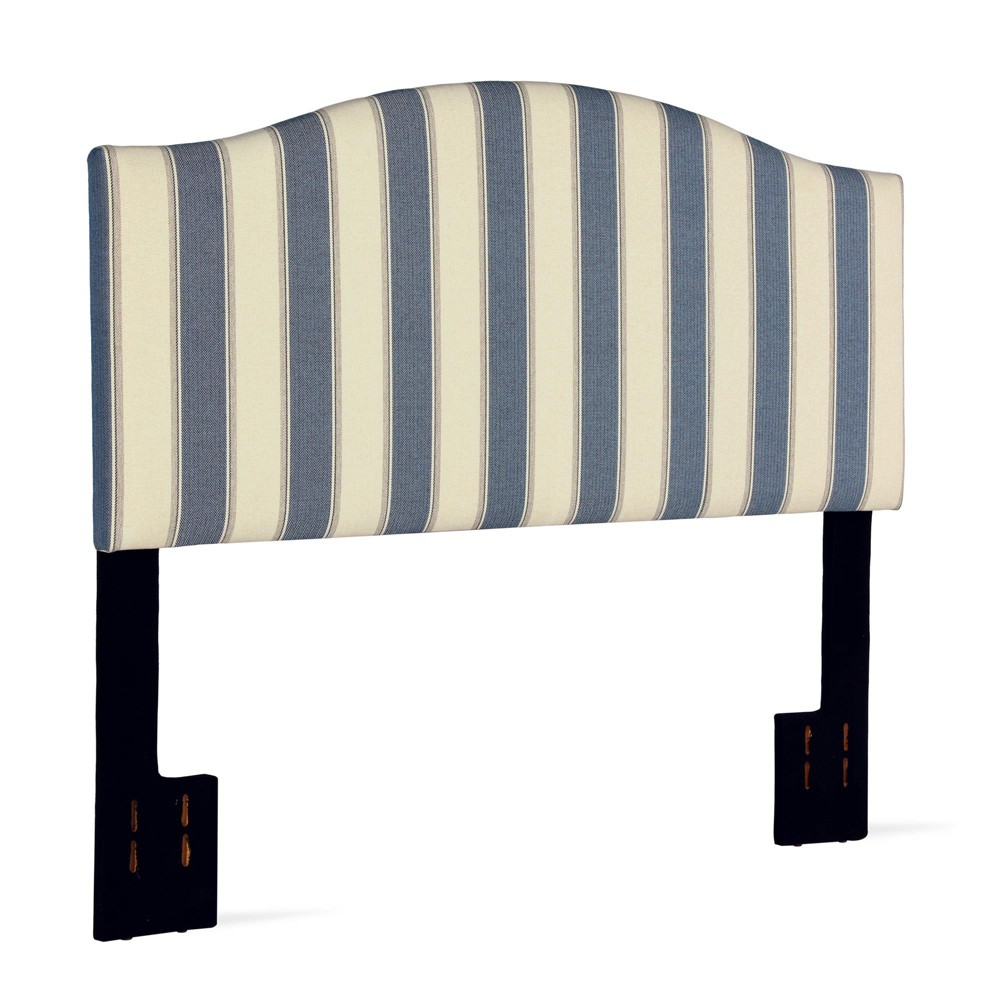 Full/Queen Fletcher Camelback Striped Headboard Blue - Dorel Living