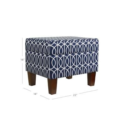 Bella Storage Ottoman   Blue Trellis   HomePop : Target