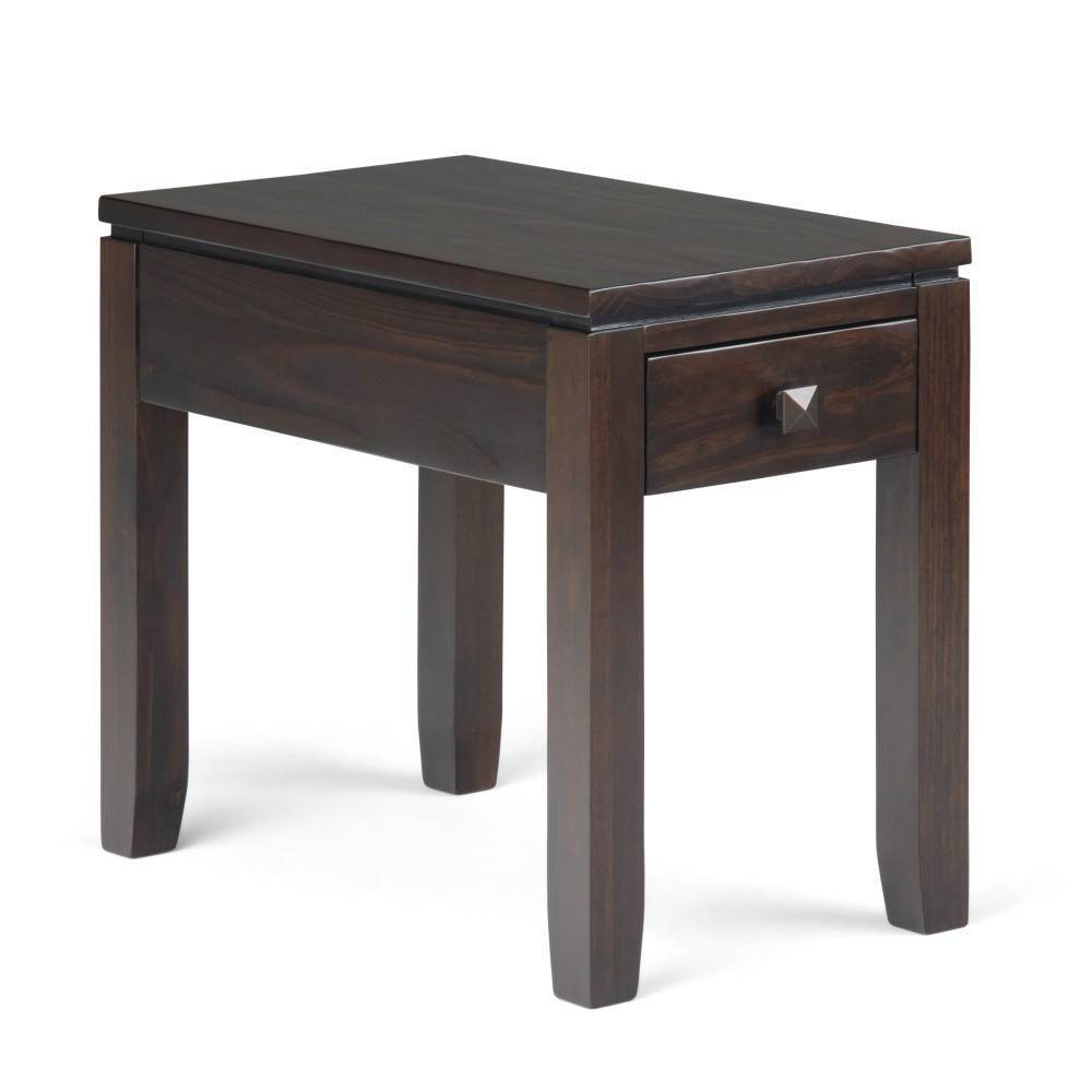 "Image of ""14"""" Essex Narrow Side Table Mahogany Brown - Wyndenhall, Brown Brown"""