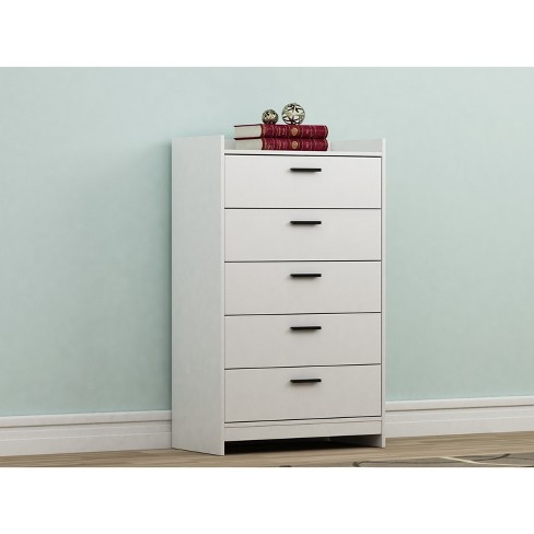 Emerson 5 Drawer Chest Off-White - Loft 607 - image 1 of 4