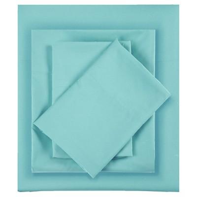 Queen Microfiber All Season Wrinkle-Free Sheet Set Blue