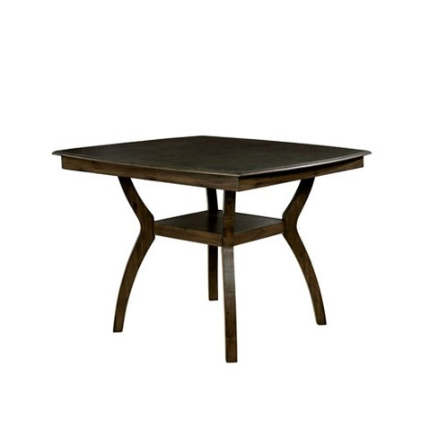 Harper Wood Counter Height Dining Table Walnut Homes Inside Out