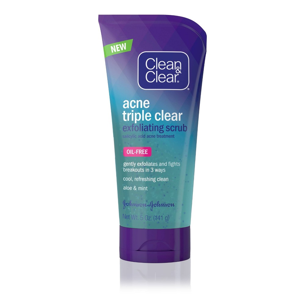 Image of Clean & Clear Acne Triple Clear Exfoliating Facial Scrub - 5oz
