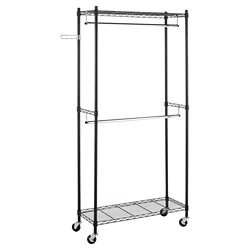Whitmor Supreme Double Rod Garment Rack
