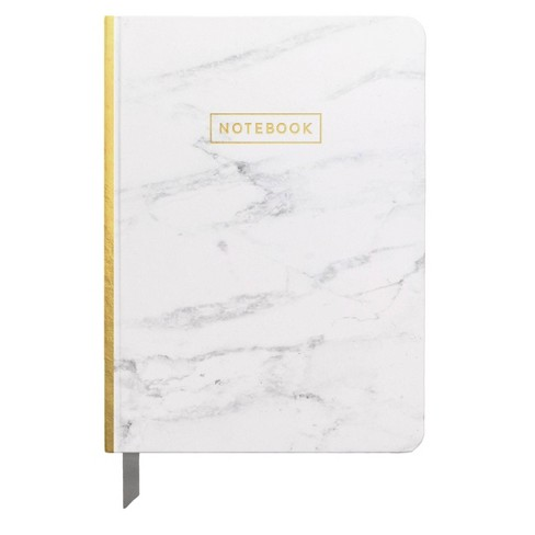 """Lined Journal 5""""x 7.25"""" Marble with Gold Foil - DesignWorks Ink - image 1 of 1"""