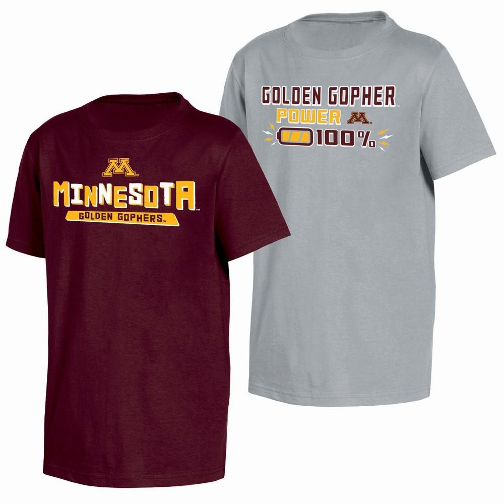 NCAA Toddler Boys' 2pk T-Shirt Minnesota Golden Gophers - 2T, Multicolored