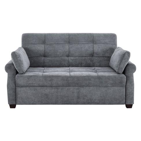 Serta Honor Convertible Sofa Gray