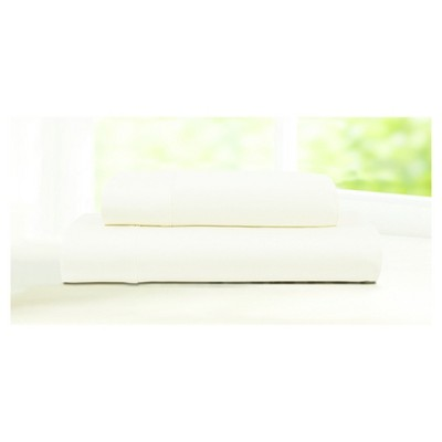 Egyptian Cotton Sateen Deep Pocket Solid Sheet Set (King)4pc Ivory 600 Thread Count - Tribeca Living®