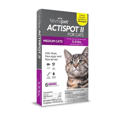 Tevra Pet Actispot II Flea Prevention for Cats - 6 Doses - image 1 of 3