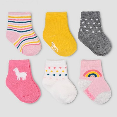 Baby Girls' 6pk Lama Ankle Socks - Just One You® made by carter's 0-3M