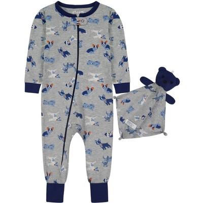 Sleep On It Infant Boys Zip-Front Onesie