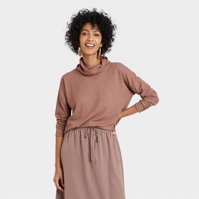 Women's Long Sleeve Turtleneck Waffle T-Shirt - A New Day™