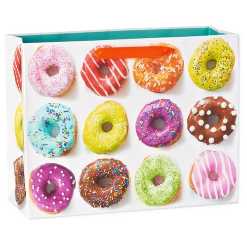 Gift Bag Birthday Donuts on White - Spritz™ - image 1 of 2