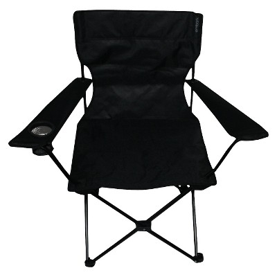 Adult Folding Arm Chair with Carrying Case Black - Embark™
