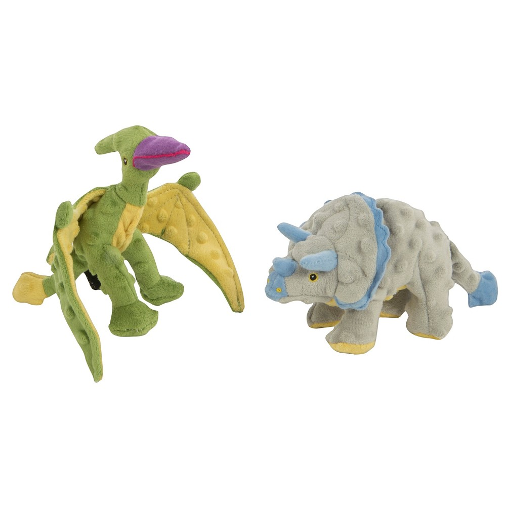 GoDog Frills and Terry Plush Dog Toy, Multi-Colored
