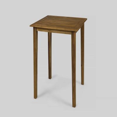 Polaris Acacia Wood Square Bar Table - Christopher Knight Home