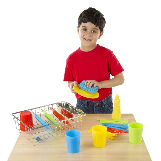 Melissa & Doug Let's Play House Wash and Dry Dish Set (24pc) image number null