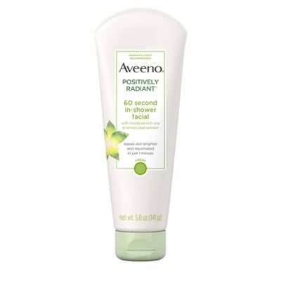Facial Cleanser: Aveeno Positively Radiant 60 Second In-Shower Facial