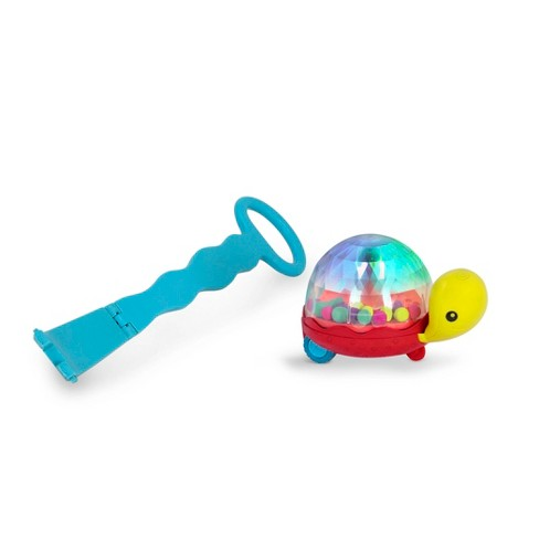 B toys Walk 'n' POP Light-Up Popping Turtle Push-Along Walker - image 1 of 4