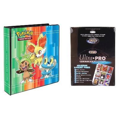 "Ultra Pro Pokémon X & Y 2"" 3-Ring Binder Card Album with 100 Ultra Pro Platinum 9-Pocket Sheets Card Game"