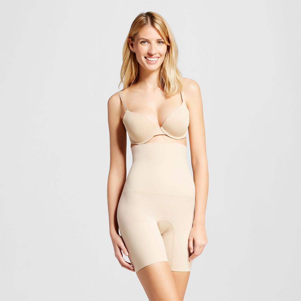 Maidenform Self Expressions Women's Seamless High Waist Thigh Slimmer SE3047, Size: Medium, Beige