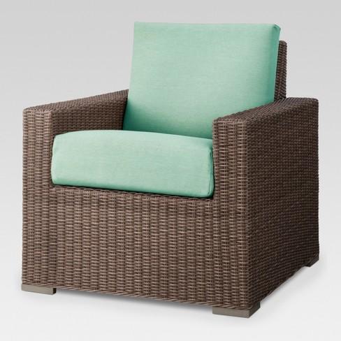 Heatherstone Wicker Patio Club Chair- Seafoam - Threshold™ - image 1 of 2