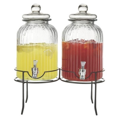 American Atelier® Springfield Beverage Dispenser 2.7gal Glass - Set of 2