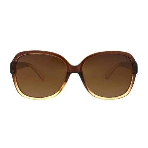 282736a785 Women s Two Tone Polarized Smoke Sunglasses - A New Day™ Tan   Target