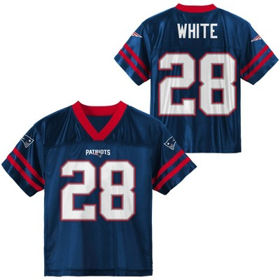 NFL New England Patriots Boys' James White Short Sleeve Jersey
