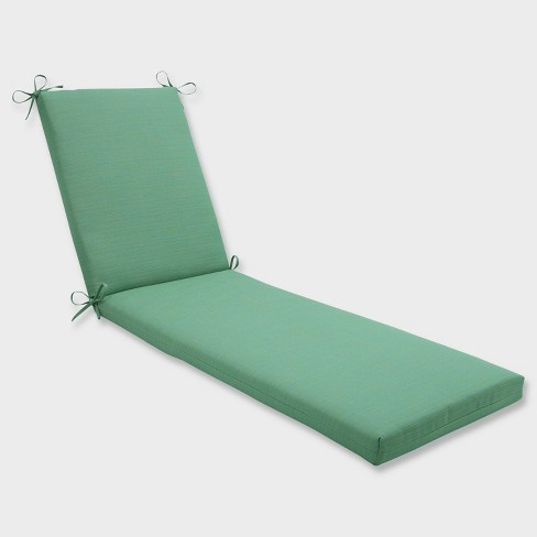 """80"""" x 23"""" x 3"""" Dupione Paradise Chaise Lounge Outdoor Cushion Green - Pillow Perfect - image 1 of 3"""