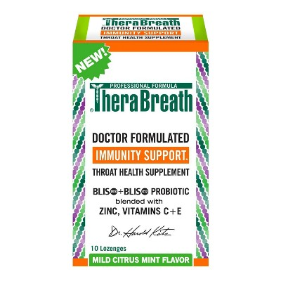 TheraBreath Immunity Support Throat Health Supplement - Citrus Mint - 10 fl oz