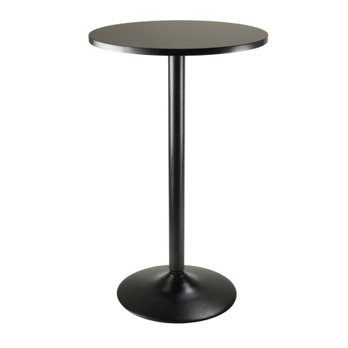 Obsidian Pub Table Bar Height Wood/Black - Winsome - image 1 of 3