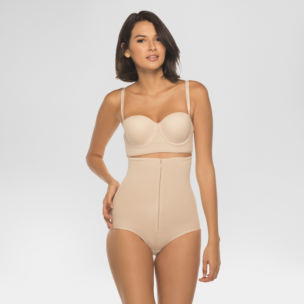 Annette Women's Faja Extra Firm Control High Waisted Shaper with Invisible Zipper - Beige Xxl