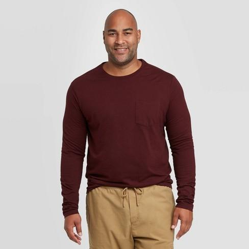 Men's Big & Tall Standard Fit Long Sleeve Novelty T-Shirt - Goodfellow & Co™ - image 1 of 3