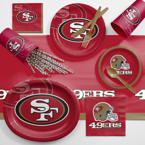 NFL Red And Brown San Francisco 49Ers Ultimate Fan Party Supplies