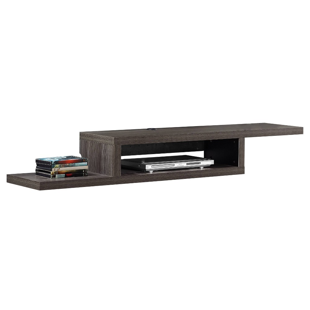 "Image of ""60"""" Skyline Wall Mounted Media Console Gray - Martin Furniture, Size: 60"""""""