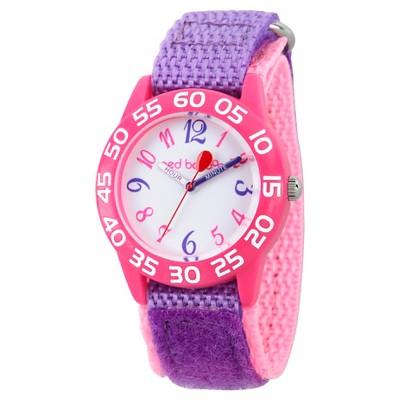 Girls' Red Balloon Pink Plastic Time Teacher Watch - Purple