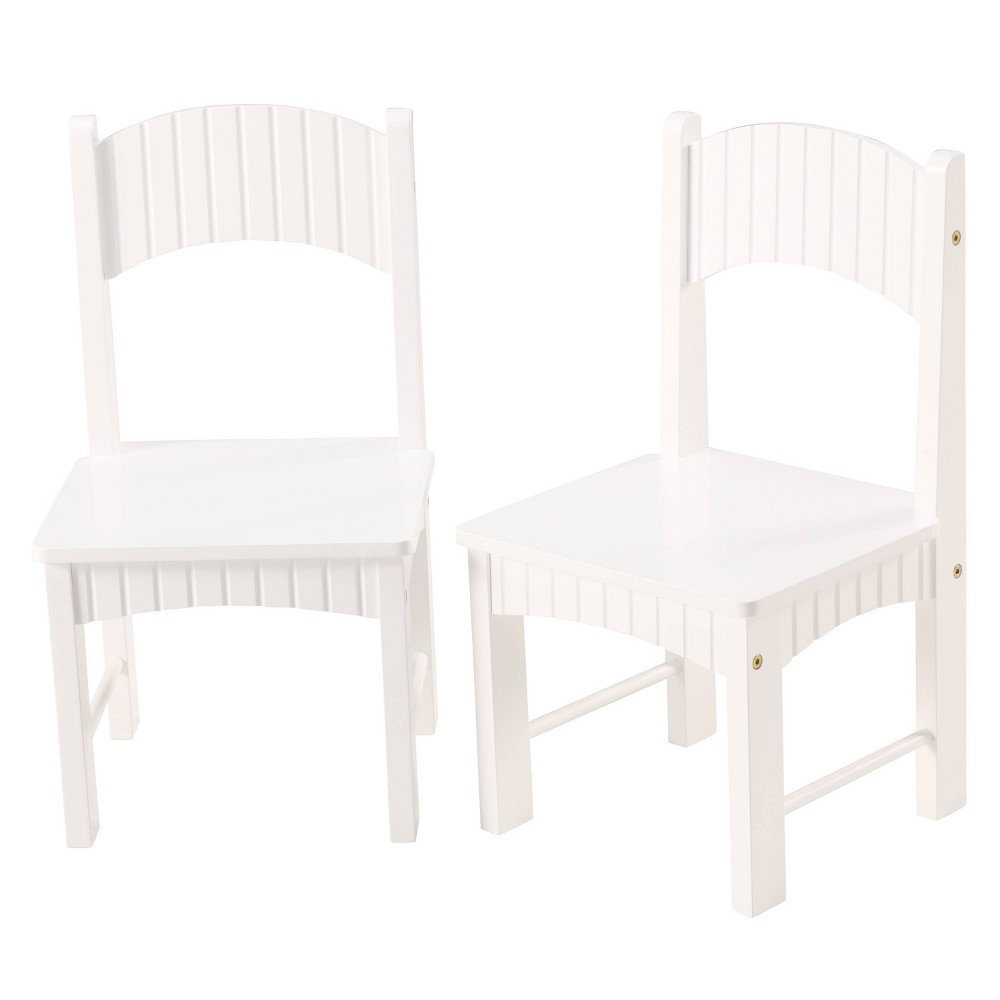 Image of Set of 2 Henry Chairs White - Linon