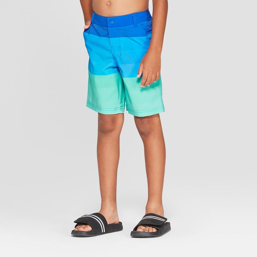 Boys' Blue Ombre Hybrid Swim Trunks - art class Blue 6