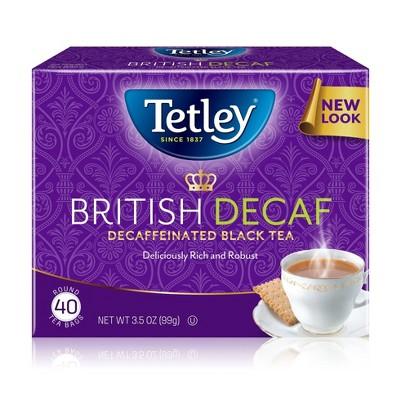 Tetley Decaffeinated British Blend - 40ct