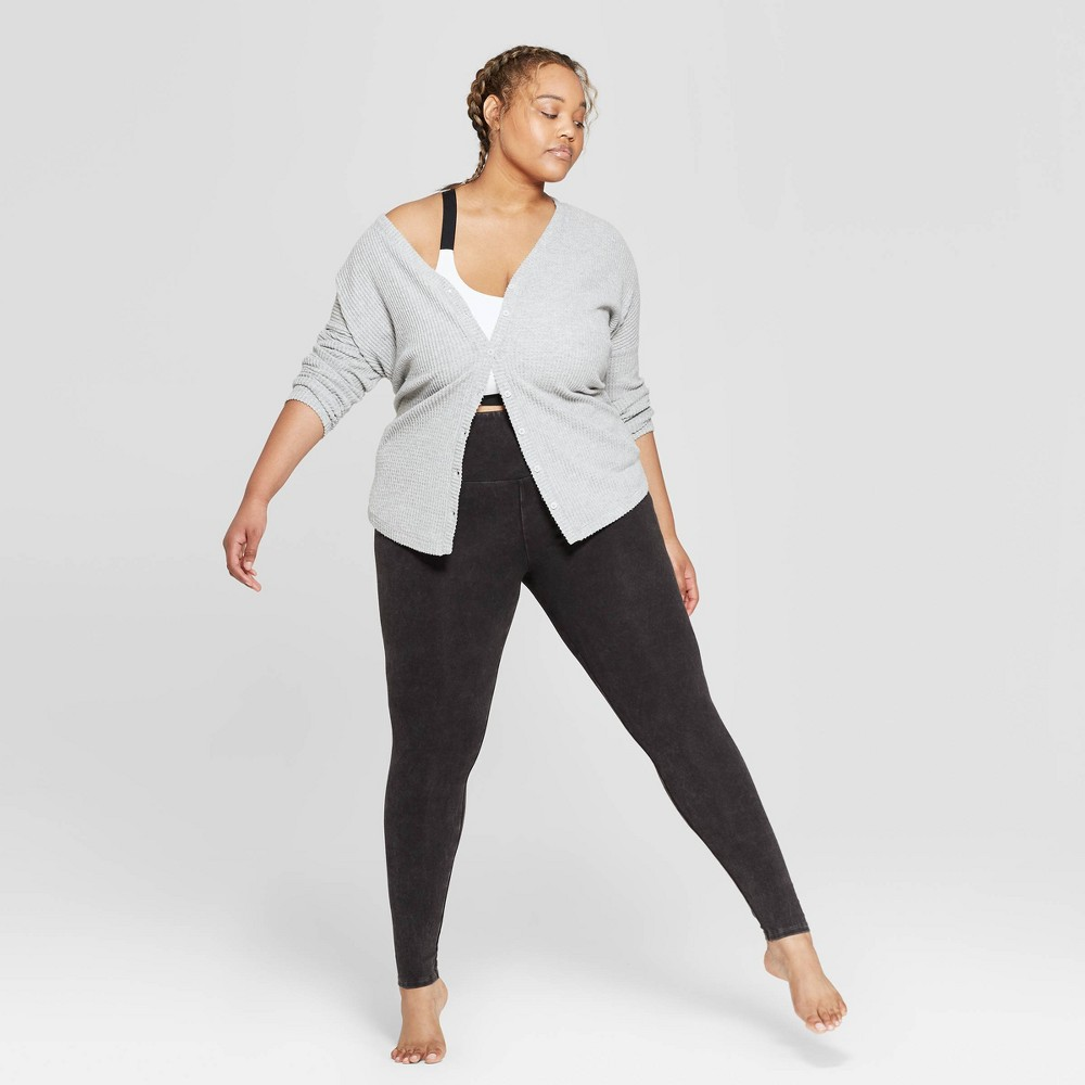 Women's Plus Size High Waist Lounge Leggings - Colsie Black 1X