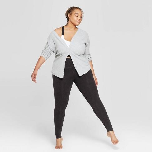 Women's Plus Size High Waist Lounge Leggings - Colsie™ Black - image 1 of 3