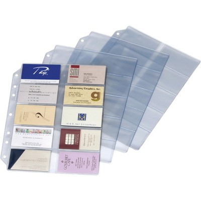 Cardinal Refill Pages For Card File Binder 10/PK Clear 7860000