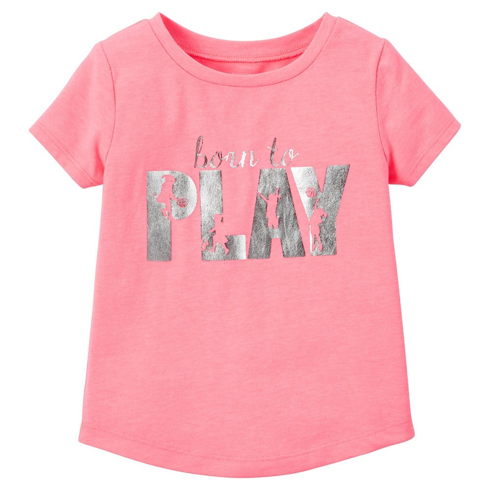 Toddler Girls' Graphic T-Shirt Born to Play - Just One You Made by Carter's Pink Shell 4T