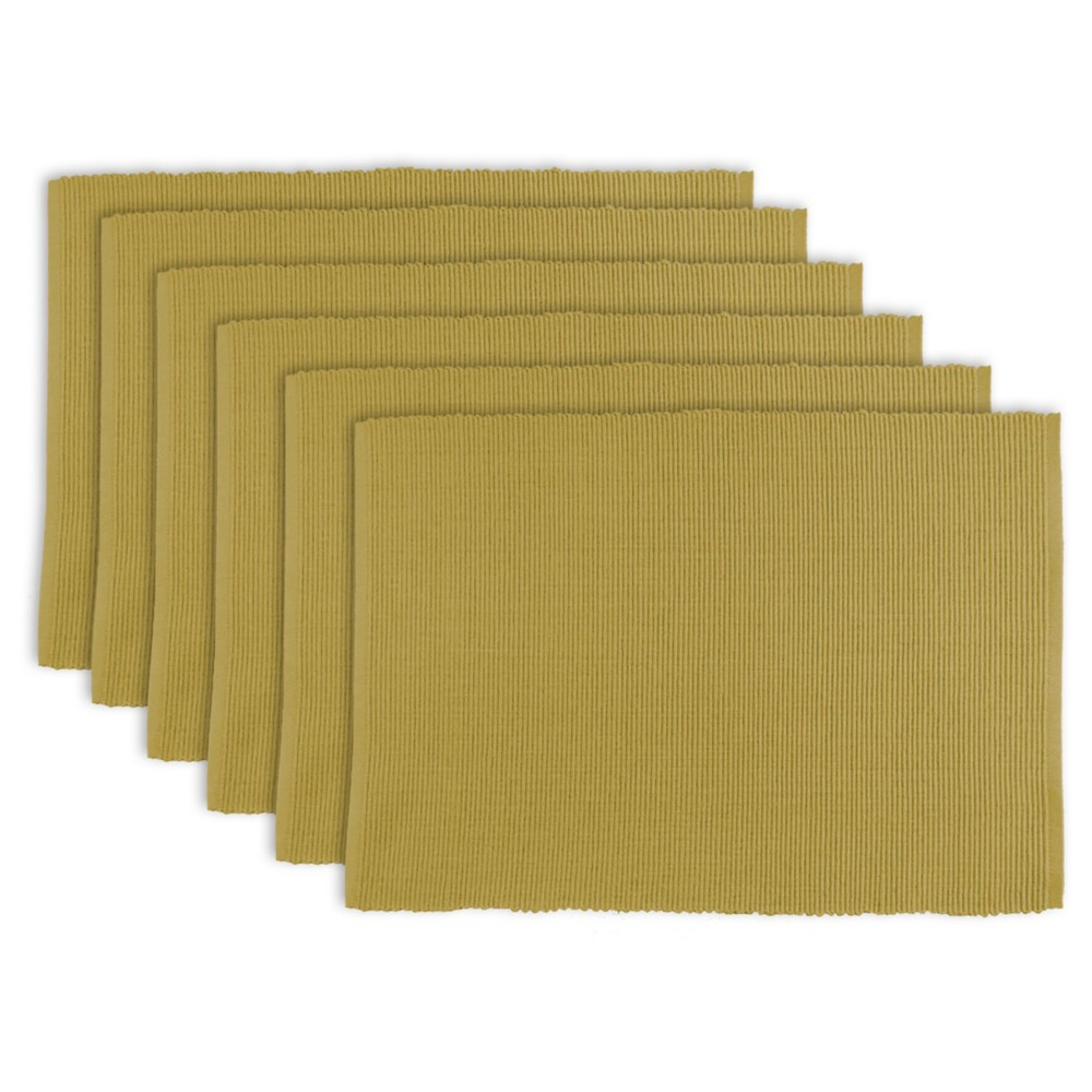 Taupe Brown Placemats (Set Of 6) - Design Imports