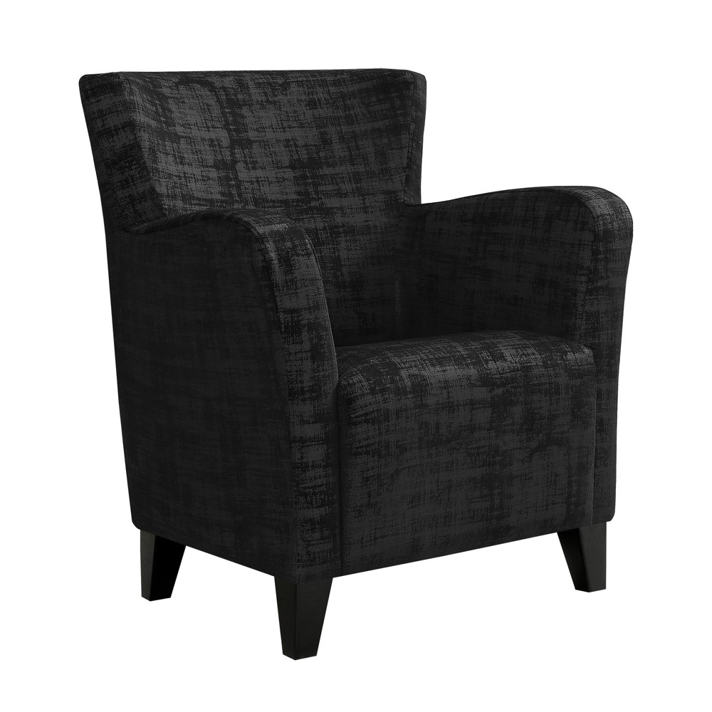 Accent Chair Brushed Velvet Fabric Black - EveryRoom